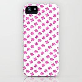 Pink Rose Print Pattern iPhone Case