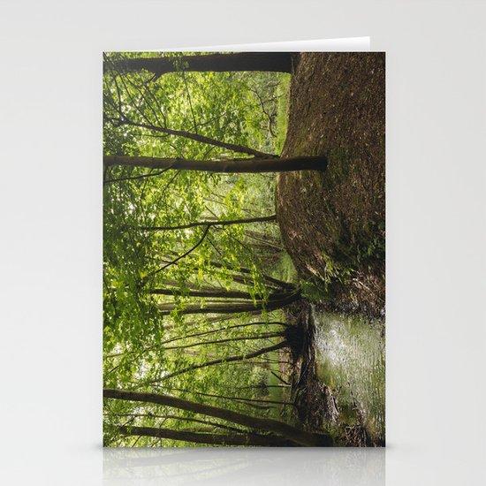 Small woodland stream. Stationery Cards