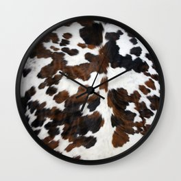 Cowhide Wall Clock