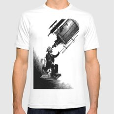 Who's Looking at Who? White MEDIUM Mens Fitted Tee