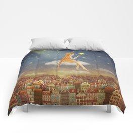 In night sky Comforters
