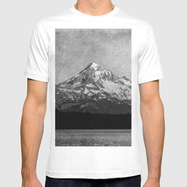 Mt Hood Black and White Vintage Nature Photography T-shirt