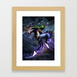 Abstract Flashy Light Effect Illustration Framed Art Print