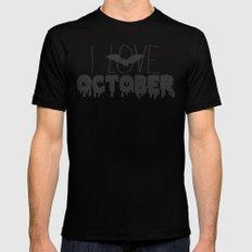 I Love October MEDIUM Mens Fitted Tee Black