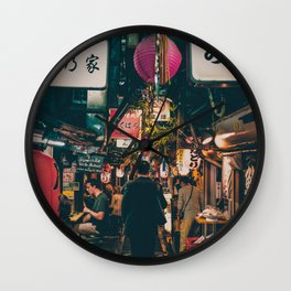 """PHOTOGRAPHY """"Typical Japan Street"""" Wall Clock"""