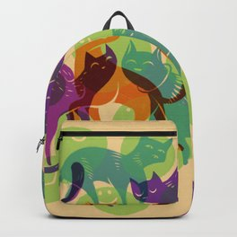 Purple Cats and Hugs Backpack