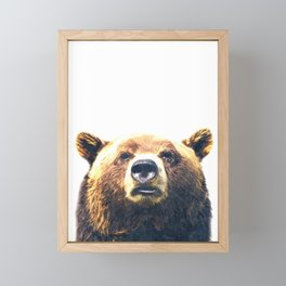 Bear portrait Framed Mini Art Print