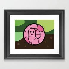 Cutesy Crawlies — Earthworm Framed Art Print