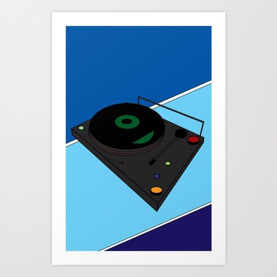 Turn Table Art Print