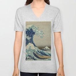 The Great Wave off Kanagawa Unisex V-Neck