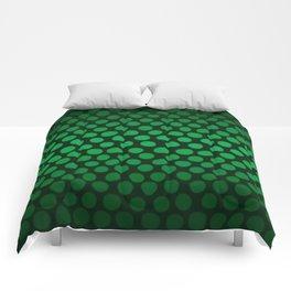 Emerald Green Ombre Dots Comforters