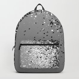 Sparkling Silver Gray Lady Glitter #1 #shiny #decor #art #society6 Backpack