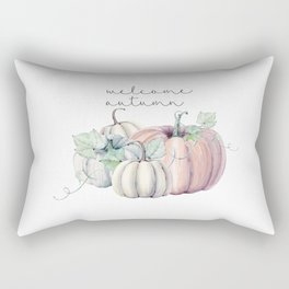 welcome autumn orange pumpkin Rectangular Pillow