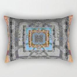 Trefoil Boujee Boho Sacred Geometric Portal Print Rectangular Pillow
