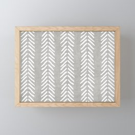 Mud cloth - Grey Arrowheads Framed Mini Art Print