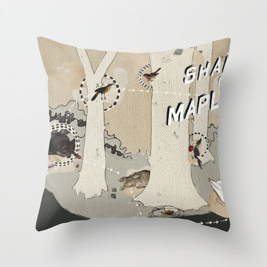 shadows over maplewood Throw Pillow