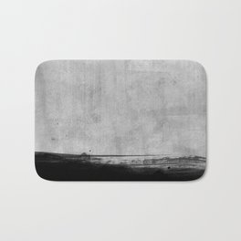 Black and Gold grunge stripes on modern grey concrete abstract backround I - Stripe - Striped Bath Mat
