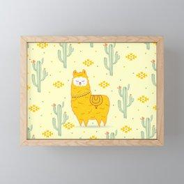 Alpaca summer Framed Mini Art Print