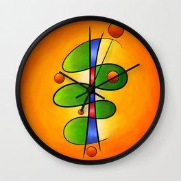 Tessanimia - colourful spring flower Wall Clock