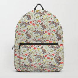 Bunny Meadow Pattern - Green Backpack