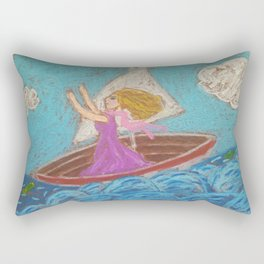 Taming the winds Rectangular Pillow