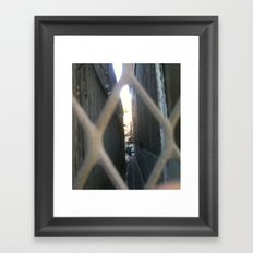 peering out another view Framed Art Print