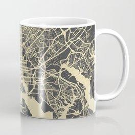 Baltimore map yellow Coffee Mug