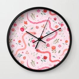 Sugar Serpents Wall Clock