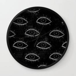 Delirium Pattern (Black) Wall Clock