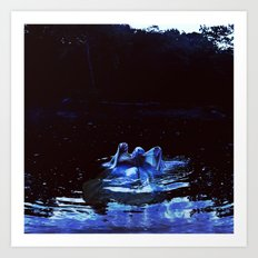 to be one with the river. Art Print