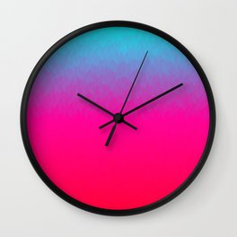 Blue purple and pink ombre flames Wall Clock