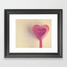 how do you measure love... Framed Art Print