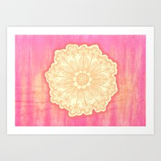 pink is s000 in.  Art Print
