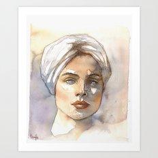 turbante Art Print