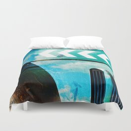 Road Roller Chevron 03 - Industrial Abstract (everyday 19.01.2017) Duvet Cover
