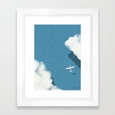 Over the sea Framed Art Print