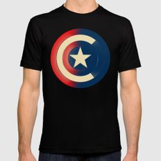 Captain Mens Fitted Tee Black LARGE