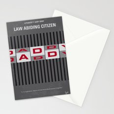 No738 My Law Abiding Citizen minimal movie poster Stationery Cards
