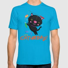 Caturday Series: Kimchi 2X-LARGE Teal Mens Fitted Tee