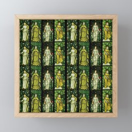 "William Morris ""Four seasons"" (Dining Room at Cragside House, Northumberland, UK) Framed Mini Art Print"