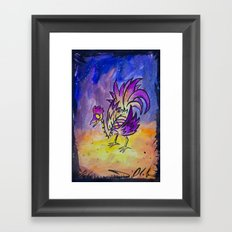 El Gallo Framed Art Print