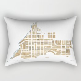 Jackson Wyoming watercolor map Rectangular Pillow