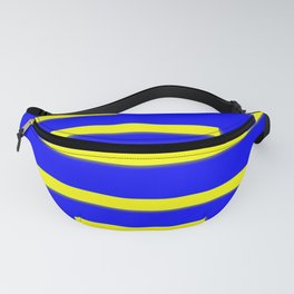 Bright Blue, Bright Yellow Graphic Design Fanny Pack