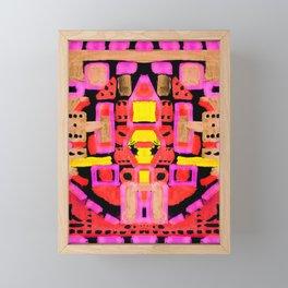 Pink Starship One Framed Mini Art Print