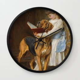 Briton Riviere Reading Lesson Compulsory Wall Clock