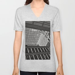 Modern Hamburg office building Unisex V-Neck