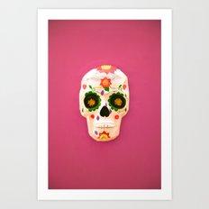 Mexican skull art Art Print