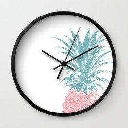 Simple Modern Boho Pineapple Drawing Wall Clock
