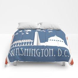 Washington, D.C. - Skyline Illustration by Loose Petals Comforters