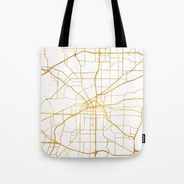 FORT WORTH CITY STREET MAP ART Tote Bag